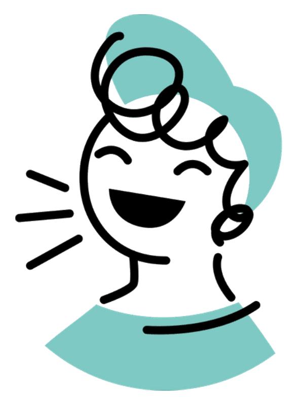Artystyczna grafika wkolorze zieleni, przedstawiająca uśmiechnięte dziecko