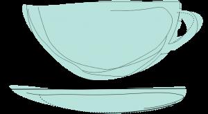 Artystyczna grafika przedstawiająca filiżankę